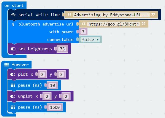 microbit - Eddystone URL senden