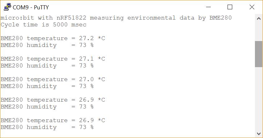 BME280 Output